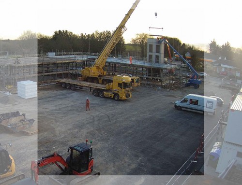 Witney: Precast concrete lift shaft topping out