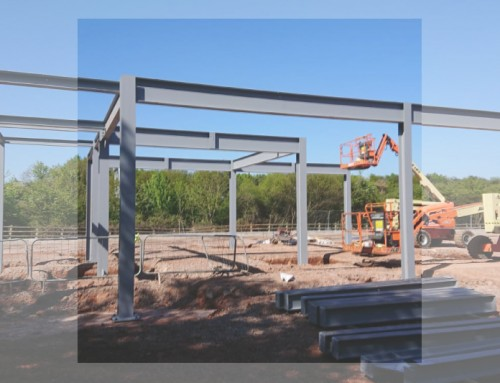 Emersons Green: Steelframe erection under way