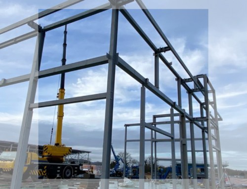 Corinthian Park: First day steel erection complete