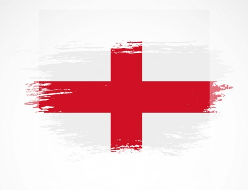 Wishing England football team the best during the game against Denmark